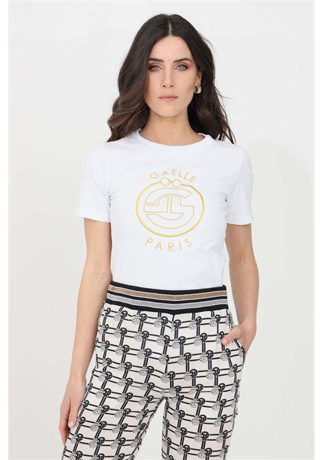 T-shirt donna bianco gaelle manica corta GAELLE | T-shirt | GBD8667BIANCO
