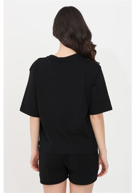 Black t-shirt short sleeve gaelle GAELLE | T-shirt | GBD8790NERO
