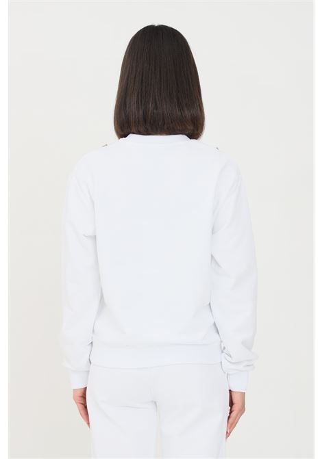 White women's sweatshirt by gaelle crew neck model GAELLE | Sweatshirt | GBD8793BIANCO