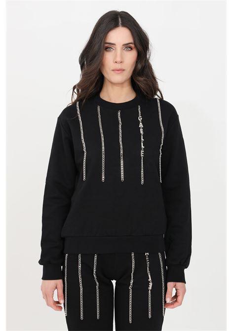 Black women's sweatshirt by gaelle crew neck model GAELLE | Sweatshirt | GBD8793NERO