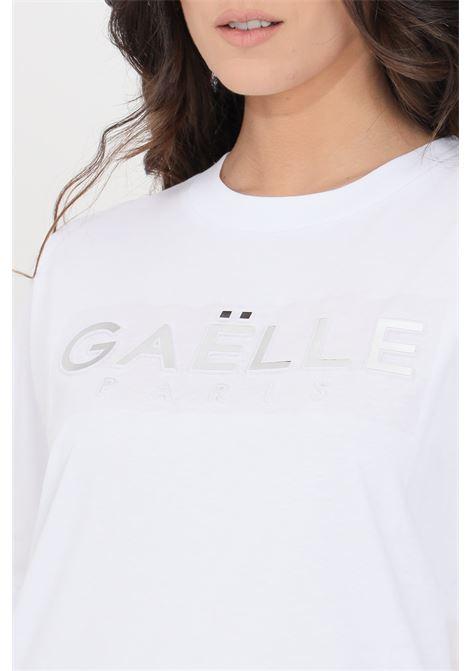 T-shirt donna bianco gaelle a manica corta GAELLE | T-shirt | GBD8813BIANCO