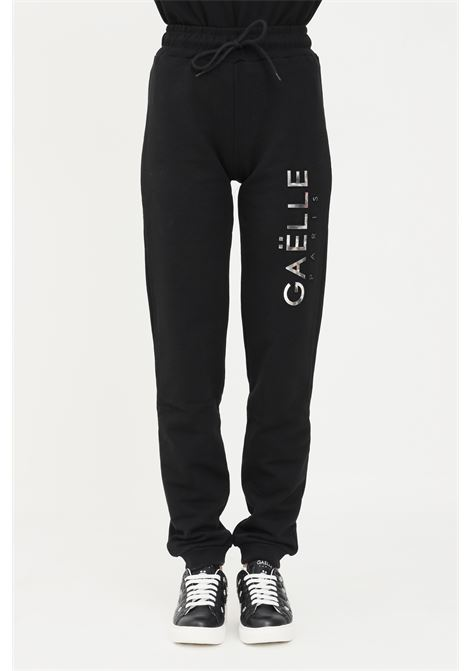 Black women's trousers by gaelle with elastic waistband GAELLE | Pants | GBD8816NERO