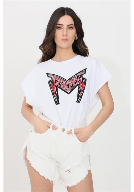 White women's t-shirt by gaelle, short sleeves GAELLE | T-shirt | GBD8823BIANCO