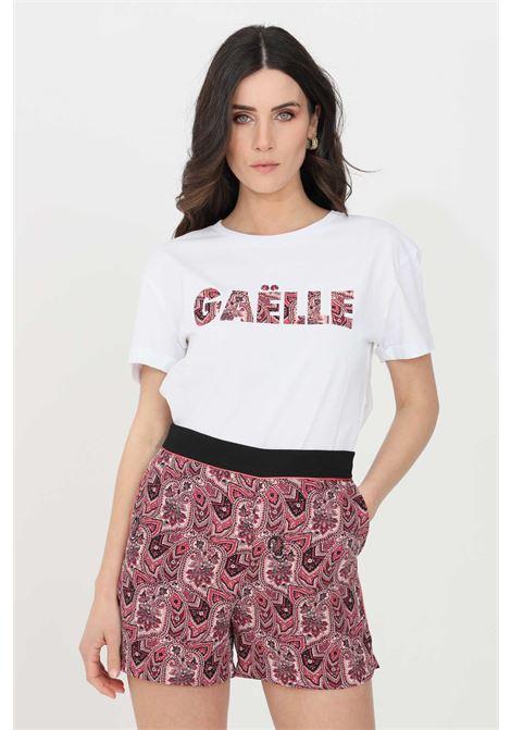 T-shirt donna bianco gaelle a manica corta GAELLE | T-shirt | GBD8873BIANCO