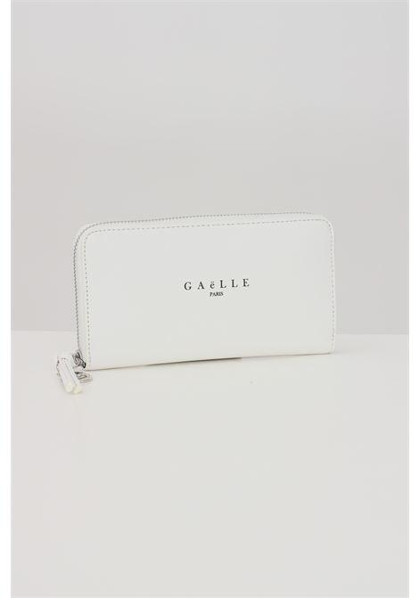 White women's wallet by gaelle with front logo  GAELLE | Wallet | GBDA2172BIANCO
