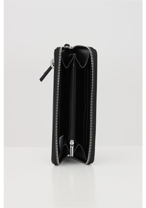 Portafolgi donna nero gaelle con logo a contrasto e chiusura con zip. GAELLE | Portafogli | GBDA2172NERO