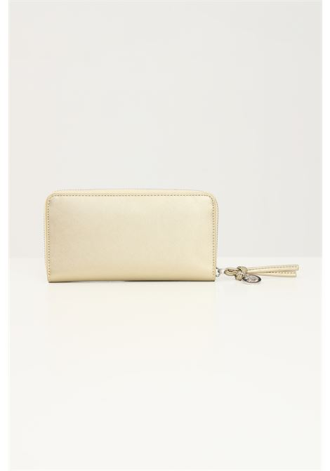Gold women's wallet by gaelle with front logo  GAELLE | Wallet | GBDA2172ORO
