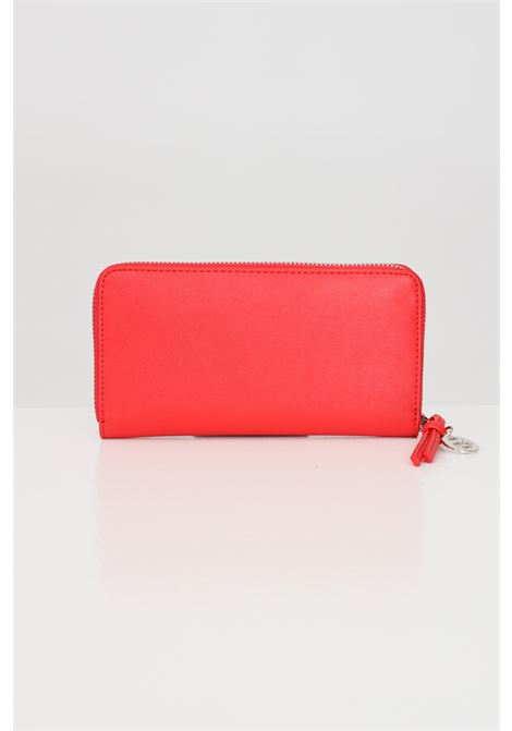 Red women's wallet by gaelle with front logo  GAELLE | Wallet | GBDA2172ROSSO