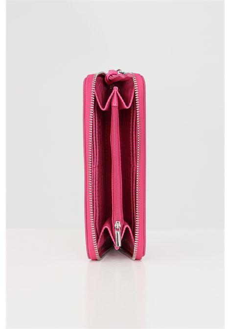 Portafogli donna gaelle effetto coccodrillo con zip GAELLE | Portafogli | GBDA2200FUXIA