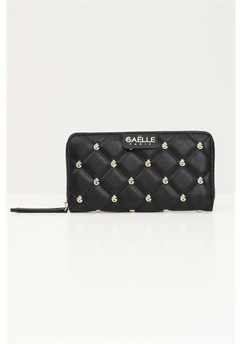 Black women's wallet with gold applications by gaelle GAELLE | Wallet | GBDA2259NERO