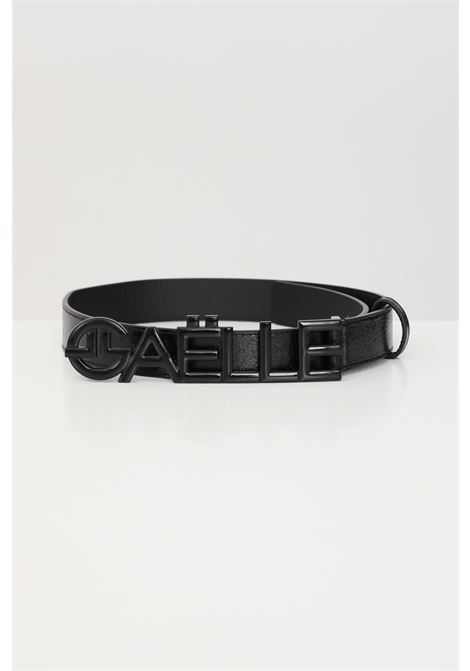 Black belt with tone on tone buckle gaelle GAELLE | Belt | GBDA2303ANERO