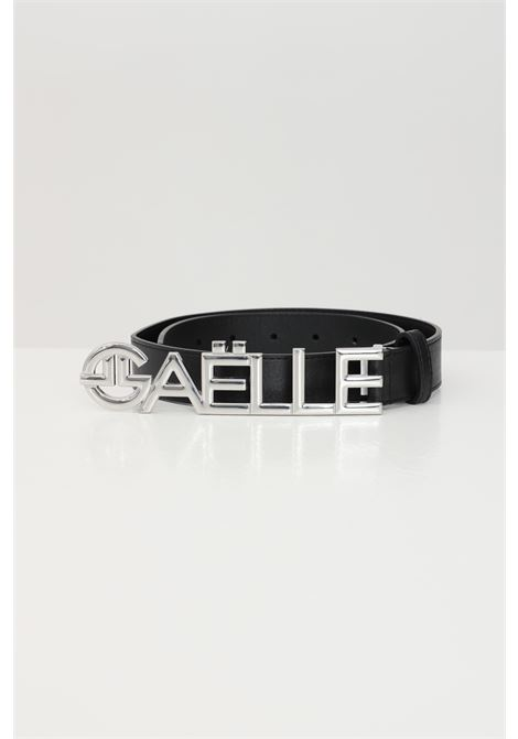 Black belt with silver logo GAELLE | Belt | GBDA2333ANERO-ARGENTO