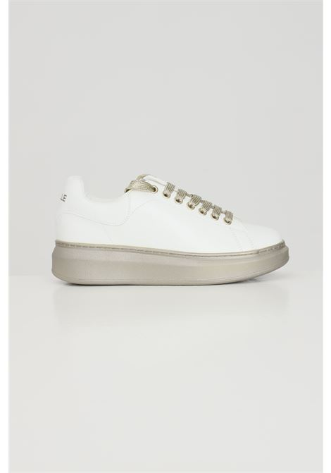 Sneakers donna bianco-oro gaelle GAELLE | Sneakers | GBDS2290GOLD