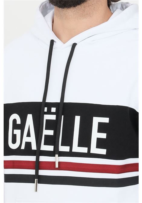 White hoodie gaelle GAELLE | Sweatshirt | GBU3767BIANCO