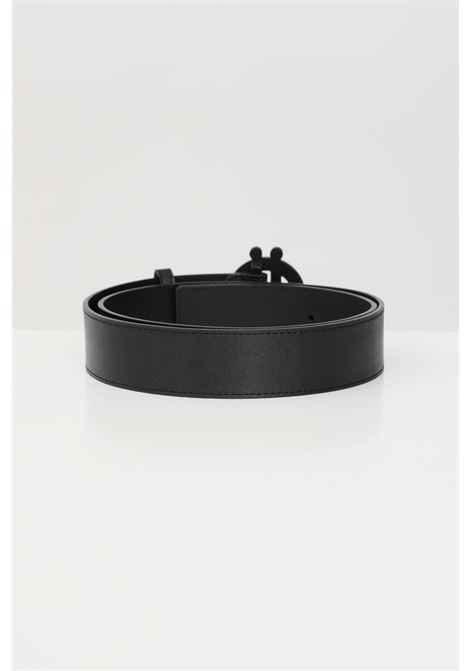 Black belt with tone on tone buckle gaelle GAELLE | Belt | GBUA621ANERO
