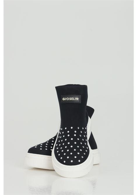 Light Diamond B Sneakers with flat studs GIOSELIN | Sneakers | LIGHT DIAMOND BBLACK