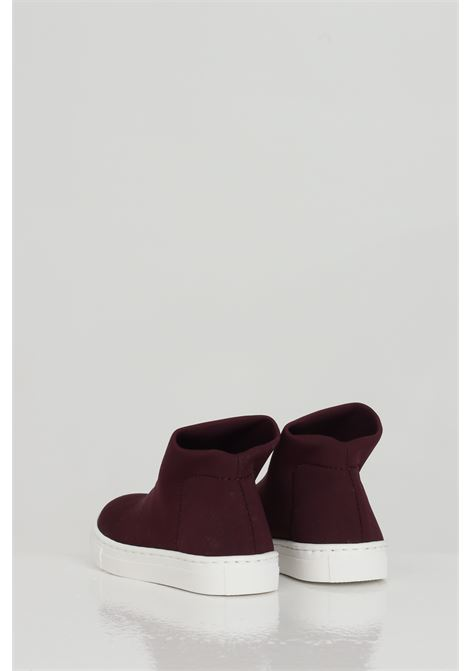Maroon sneakers, boot model without laces. Baby model. Brand: Gioselin GIOSELIN | Sneakers | LIGHT-230KBORDEAUX