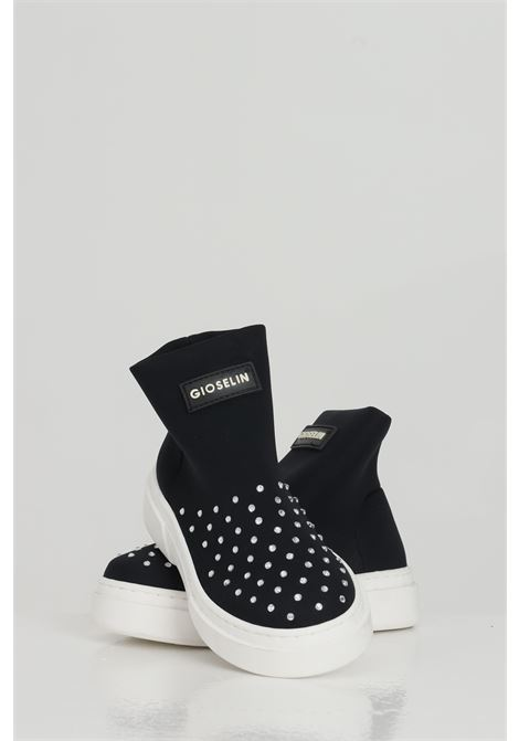 Sneakers with studs and no laces GIOSELIN | Sneakers | LIGHT-DIAMONDKNERO