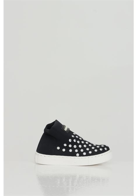 Sneakers with flat studs GIOSELIN | Sneakers | LIGHT-STUDSKNERO-ARGENTO