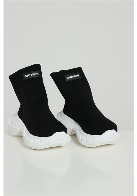 Sneakers Phox nero-bianco Gioselin modello calzino a stivaletto senza lacci logo frontale e para alta GIOSELIN | Sneakers | PHOXNERO
