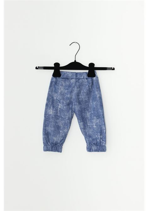 Denim newborn complete suit, sweatshirt with front logo and full zip, trousers with elastic waistband. Gioselin GIOSELIN | Suit | TUTA-ZIPKDENIM