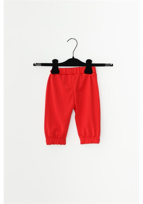Red newborn complete suit, sweatshirt with front logo and full zip, trousers with elastic waistband. Gioselin GIOSELIN | Suit | TUTA-ZIPKROSSO