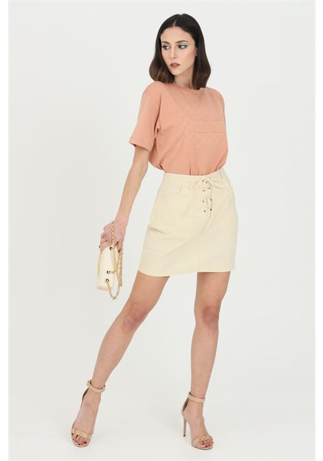 Yellowstone skirt short with laces.Glamorous GLAMOROUS | Skirt | AN3905YELLOWSTONE