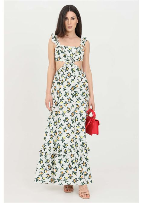 Abito donna fiori glamorous lungo con stampa allover GLAMOROUS | Abiti | AN3921LEMON AND PEAR PRINT