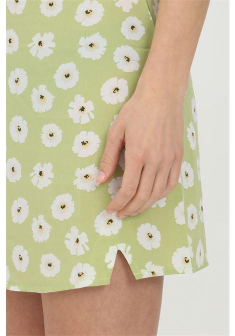 GLAMOROUS | Skirt | CA0096OLIVE GREEN FLOWER