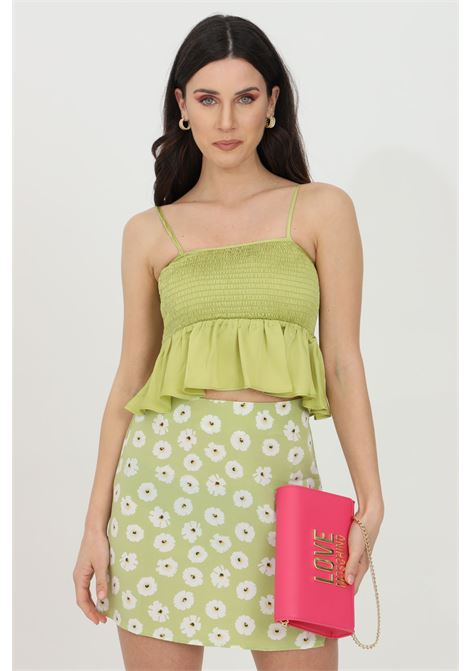 Crop top con micro plisset GLAMOROUS | Top | CA0105OLIVE GREEN