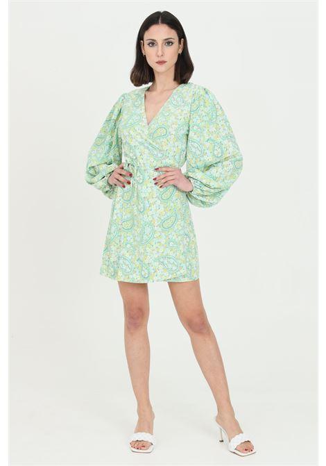 Green dress with floral print.Glamorous GLAMOROUS | Dress | CK5508GREEN PAISLEY