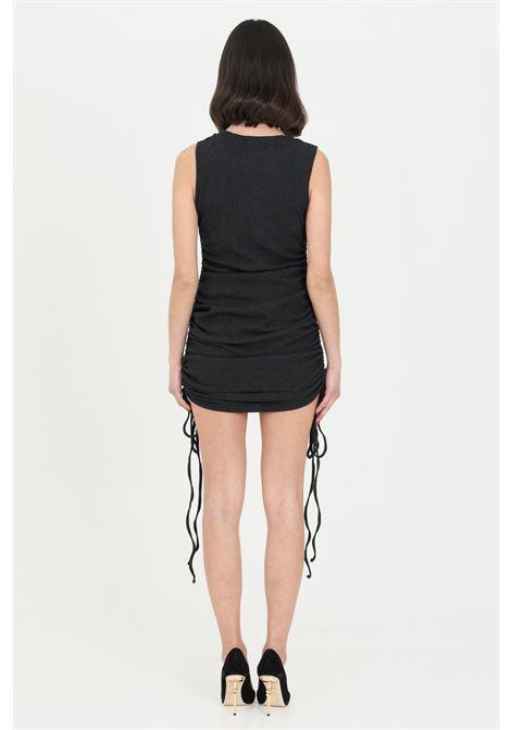 Black short dress with curly bottom. Sleeveless model.Glamorous GLAMOROUS | Dress | CK6068BLACK
