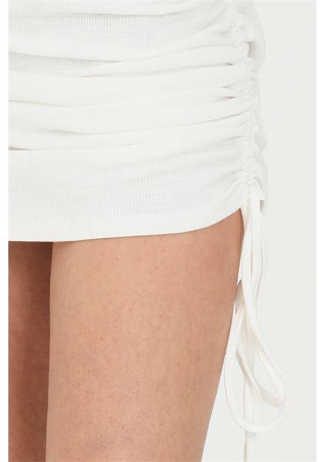 White dress with curly bottom. Sleeveless.Glamorous GLAMOROUS | Dress | CK6068WHITE