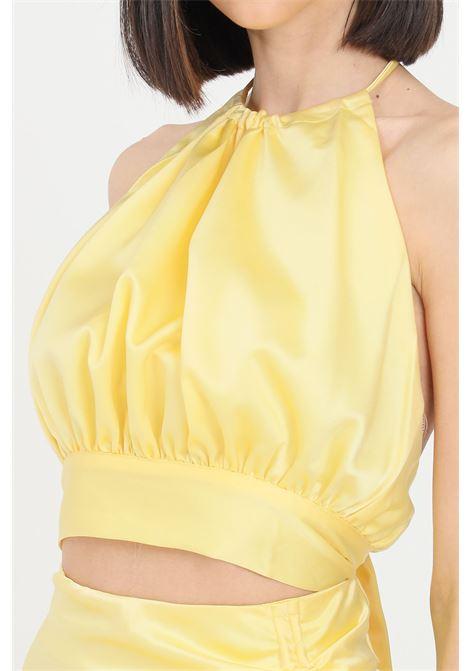 Yellow casual top short cut glamorous GLAMOROUS | Top | GC0415PALE YELLOW