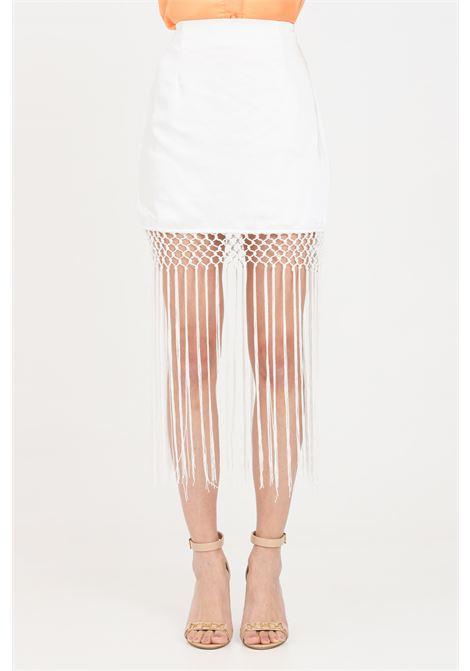 White short skirt with fringes glamorous GLAMOROUS | Skirt | GC0419WHITE