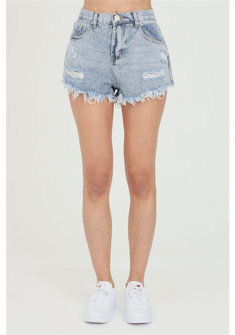 Shorts donna in denim Glamorous casual modello corto GLAMOROUS | Shorts | KA6640LIGHT BLUE WASH