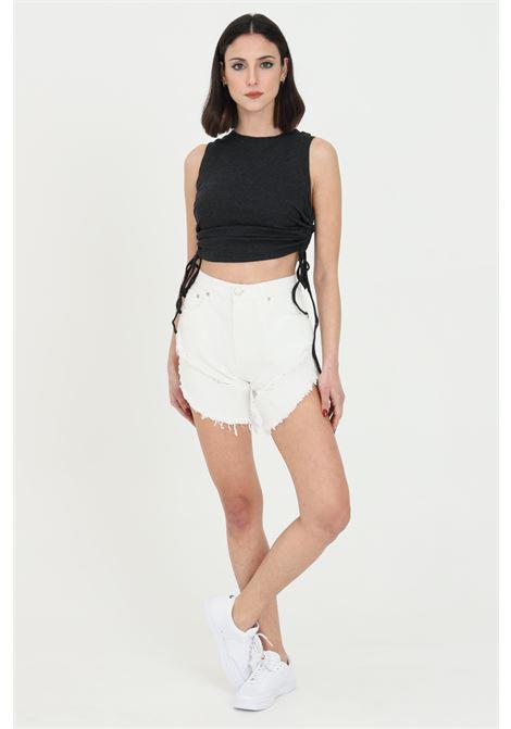 Shorts donna nero Glamorous casual a vita alta GLAMOROUS | Shorts | KA6744WHITE
