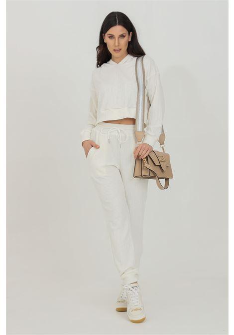 Pantalone in tessuto morbido a costine GLAMOROUS | Pantaloni | SA0239WHITE