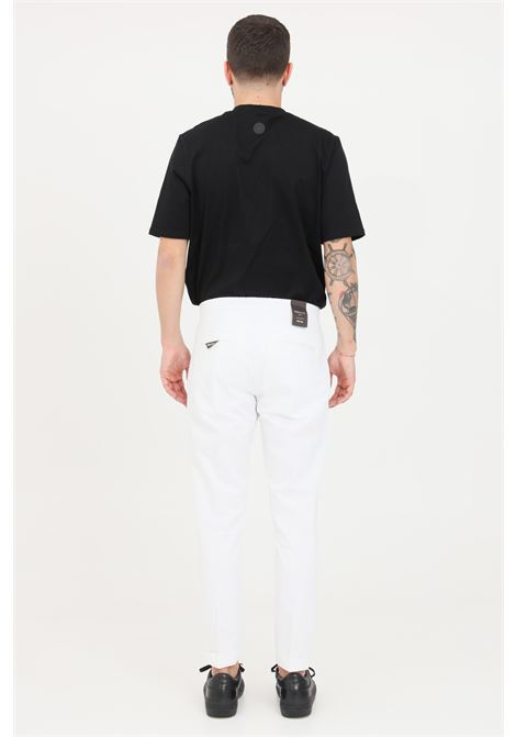 White casual trousers, classic cut. Golden craft GOLDEN CRAFT | Pants | GC1PSS215885A001