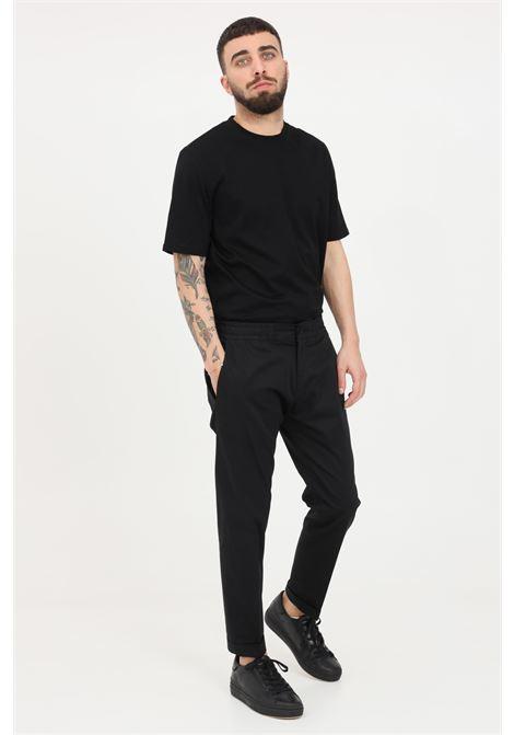 Black casual trousers, classic cut. Golden craft GOLDEN CRAFT | Pants | GC1PSS215885D001
