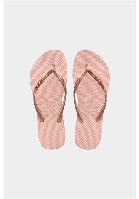 Infradito h slim donna rosa havaianas. Fascette e logo tono su tono HAVAIANAS | Infradito | 4000030.0076.F170076