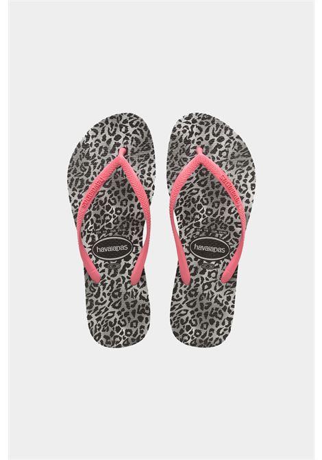 Infradito slim leopard fc bambina nero-rosa havaianas HAVAIANAS | Infradito | 4145480.0090.I250090
