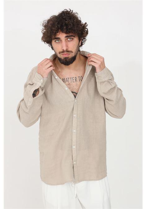 Camicia uomo beige i'm brain casual I'M BRIAN | Camicie | CA17280025