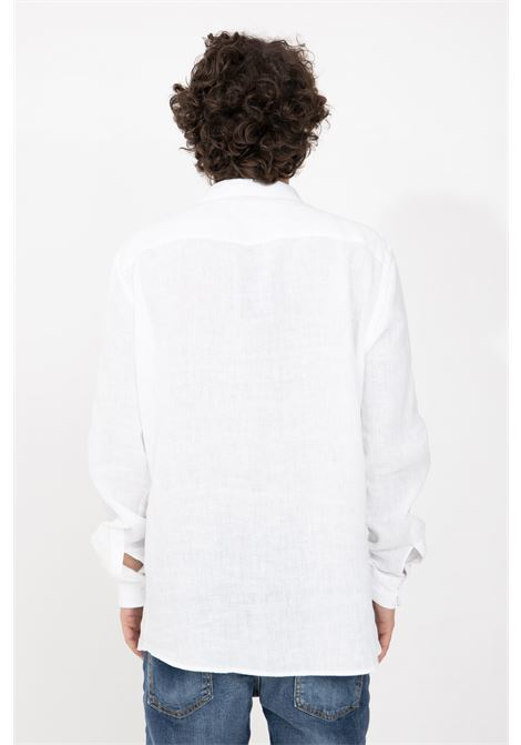 Camicia uomo bianco i'm brain casual I'M BRIAN | Camicie | CA1728002
