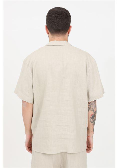 Sand linen shirt i'm brian I'M BRIAN | Shirt | CA1730SABBIA