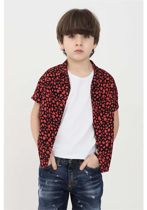 Red baby shirt with polka dot print i'm brian I'M BRIAN | Shirt | CA1731J0028