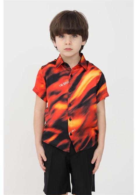Camicia bambino rosso i'm brain I'M BRIAN | Camicie | CA1735J0028