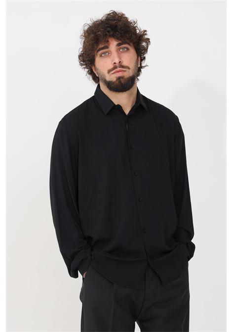 Camicia uomo nero i'm brain casual I'M BRIAN | Camicie | CA1741009