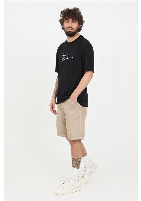 Beige casual shorts i'm brian  I'M BRIAN | Shorts | KEVINCL1604BSABBIA