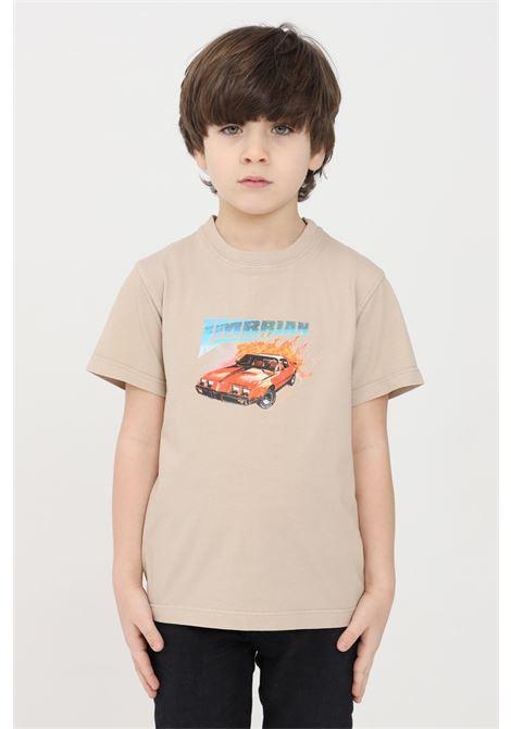 T-shirt bambino beige i'm brain I'M BRIAN | T-shirt | TS1697J0025